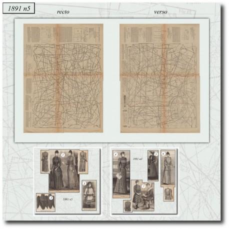 Sewing patterns La Mode Illustrée 1891 N°05