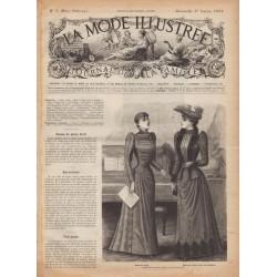 Complete magazine La Mode Illustrée 1891 N°05