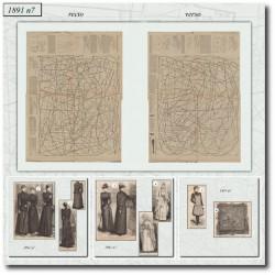 Patrons de La Mode Illustrée 1891 N°07