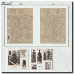 Patrons de La Mode Illustrée 1891 N°10