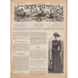 Complete magazine La Mode Illustrée 1891 N°10