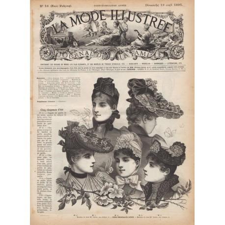 Complete magazine La Mode Illustrée 1891 N°16