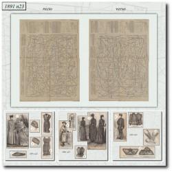 Patrons de La Mode Illustrée 1891 N°23