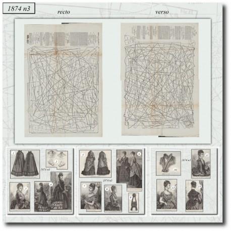 Sewing patterns La Mode Illustrée 1874 N°03