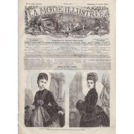 Complete magazine La Mode Illustrée 1874 N°05