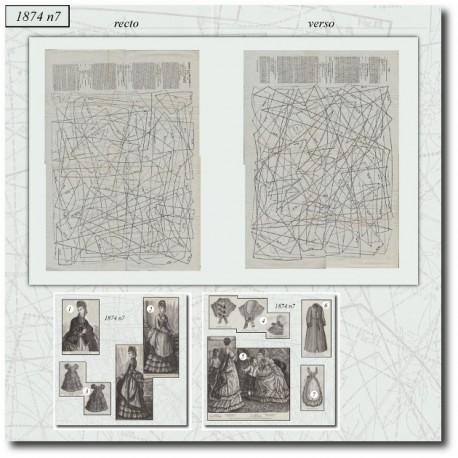 Sewing patterns La Mode Illustrée 1874 N°07