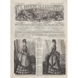 Revue complète de La Mode Illustrée 1874 N°07