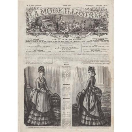 Complete magazine La Mode Illustrée 1874 N°07