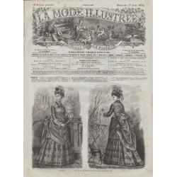Complete magazine La Mode Illustrée 1874 N°09