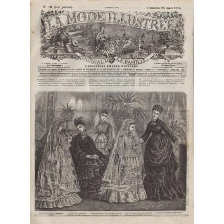 Complete magazine La Mode Illustrée 1874 N°12