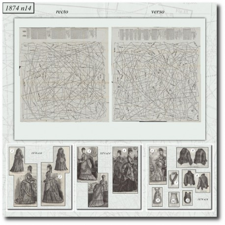 Sewing patterns La Mode Illustrée 1874 N°14