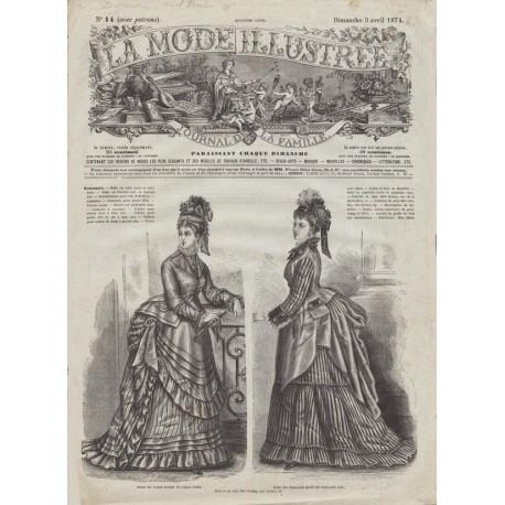 Complete magazine La Mode Illustrée 1874 N°14