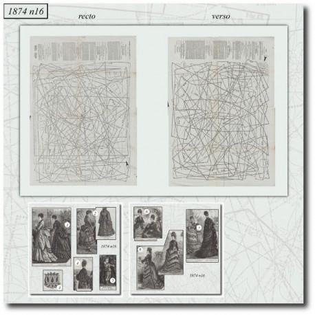 Sewing patterns La Mode Illustrée 1874 N°16
