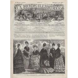 Complete magazine La Mode Illustrée 1874 N°18