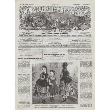 Complete magazine La Mode Illustrée 1874 N°20
