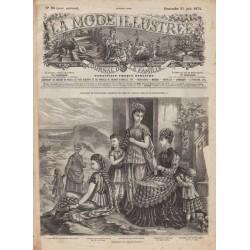 Complete magazine La Mode Illustrée 1874 N°25