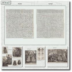 Patrons de La Mode Illustrée 1874 N°27
