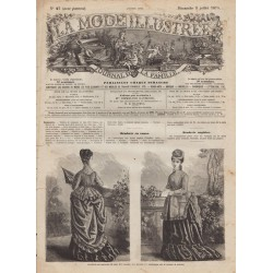 Complete magazine La Mode Illustrée 1874 N°27