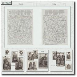 Patrons de La Mode Illustrée 1874 N°31