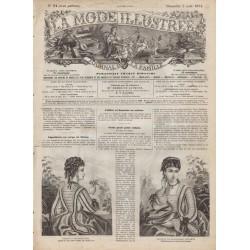 Complete magazine La Mode Illustrée 1874 N°31
