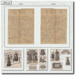 vykrojku La Mode Illustrée 1896 N°3