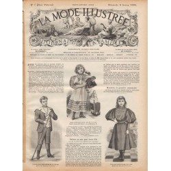 Robe en vigogne La Mode Illustrée 1896 N°5