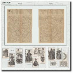 vykrojku La Mode Illustrée 1896 N°10
