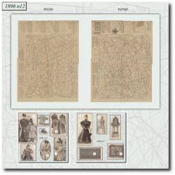 Patrons de La Mode Illustrée 1896 N°12