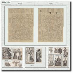 vykrojku La Mode Illustrée 1896 N°14