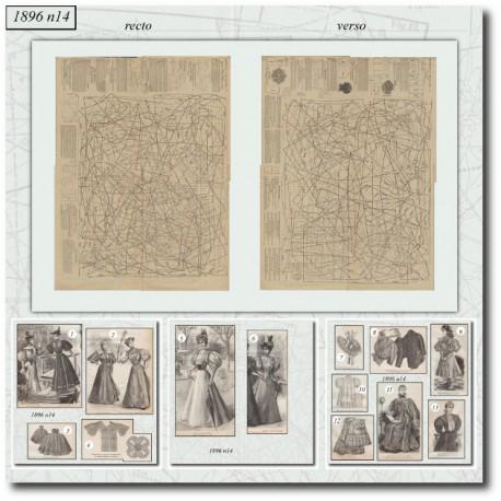Sewing patterns La Mode Illustrée 1896 N°14