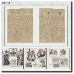 vykrojku La Mode Illustrée 1896 N°16