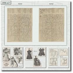 vykrojku La Mode Illustrée 1896 N°27