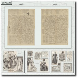 Sewing patterns bride dress La Mode Illustrée 1896 N°31