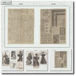Patrons de La Mode Illustrée 1896 N°33