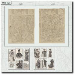 vykrojku La Mode Illustrée 1896 N°36