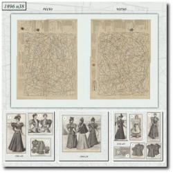 Patrons de La Mode Illustrée 1896 N°38