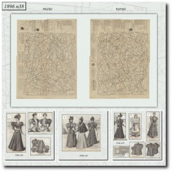vykrojku La Mode Illustrée 1896 N°38