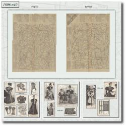 vykrojku La Mode Illustrée 1896 N°40