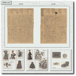 vykrojku La Mode Illustrée 1896 N°42