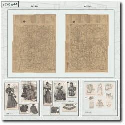vykrojku La Mode Illustrée 1896 N°44
