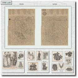 Patrons de La Mode Illustrée 1896 N°46