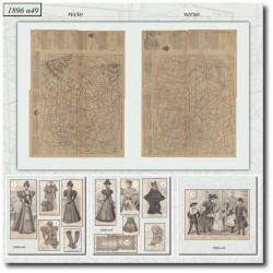 vykrojku La Mode Illustrée 1896 N°49