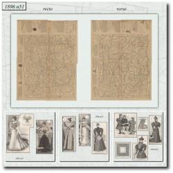 vykrojku La Mode Illustrée 1896 N°51