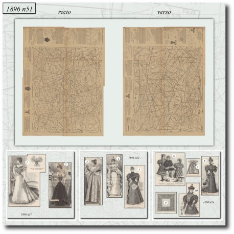 Sewing patterns toilettes de bal 1896 N°51