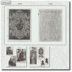 Patrons de La Mode Illustrée 1874 N°33