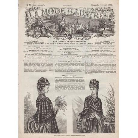 Complete magazine La Mode Illustrée 1874 N°33