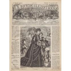 Complete magazine La Mode Illustrée 1874 N°38