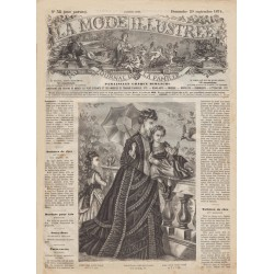 Revue complète de La Mode Illustrée 1874 N°38