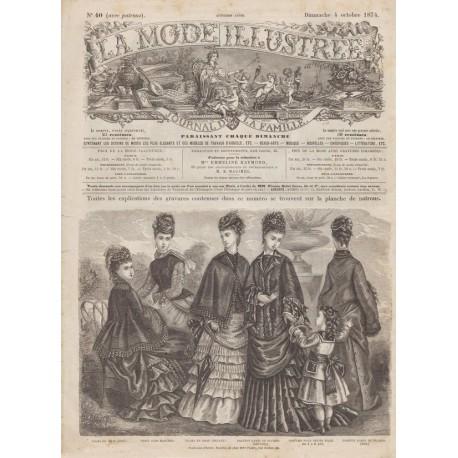 Complete magazine La Mode Illustrée 1874 N°40