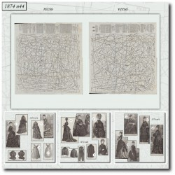Patrons de La Mode Illustrée 1874 N°44